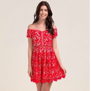 Red Hot Francesca's mini dress